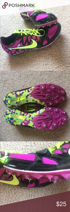💜Nike Zoom Rival S Track Spikes/Cleats💜 Fuchsia and neon yellow track and field spikes/cleats. Meant for sprinter/short distance races. I'll include brand new needle spikes too. Worn a few times, but in very good condition. Nike Shoes Sneakers