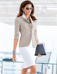 Skirt, Blazer, Sunglasses, Bracelet, Heels, Necklace