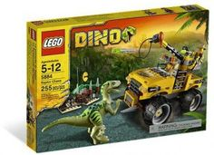 Black Friday 2014 LEGO Dino Raptor Chase 5884 from LEGO Cyber Monday. Black Friday specials on the season most-wanted Christmas gifts. Raptor Dinosaur, Lego Games, Lego Toys, Dinosaur Toys For Kids, Kids Toys, Dino Lego, Lego Dinosaurus, Legos, Lego City