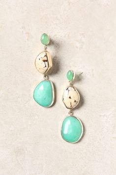 Chrysoprase & Peanut Wood Drops  $1,400.00  Women's Earrings   Anthropologie   Delicate, Statement, Chandeliers & Posts