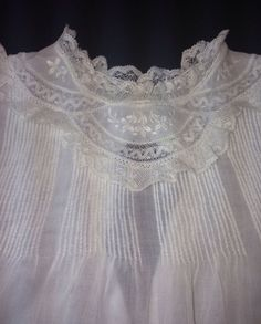 Feltman Bros Beautiful Vintage Baby Dress with Matching Slip Embr Pintuck Mint Vintage Baby Dresses, Christening Gowns, Heirloom Sewing, Antique Clothing, Pin Tucks, Crochet Lace, Smocking, White Lace, Wedding Styles