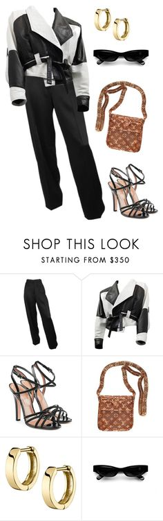 """Untitled #1661"" by lucyshenton ❤ liked on Polyvore featuring RED Valentino, Louis Vuitton and Acne Studios"
