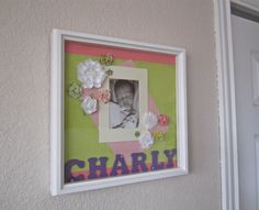 Shadow box PortraitPersonalized name frame by ShayleeBaby on Etsy, $60.00