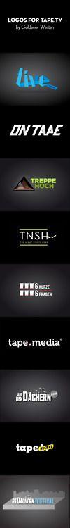 Logos for tape.tv by Goldener Westen