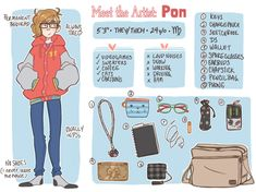 itsa meee Meet the Artist Female Character Design, Character Concept, Character Art, Character Sheet, Character Ideas, Kawaii Drawings, Cute Drawings, Design Reference, Art Reference