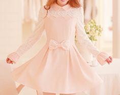 Cute Asian Fashion - - http://blog.lollimobile.com/2014/11/15/ruffle-pink-dress_20565/