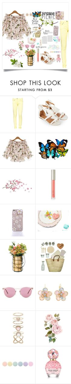 """Spring picnic"" by fantasticbabe ❤ liked on Polyvore featuring Great Plains, Monsoon, Ilia, H&M, FEVERISH, Dot & Bo, ACME Party Box Company, Oliver Peoples, Mixit and Accessorize"
