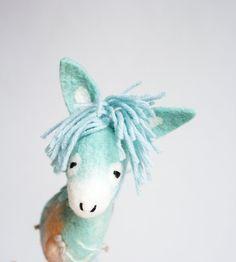 Dennis Felt Donkey. Art Toy. Felted toy Felt от TwoSadDonkeys