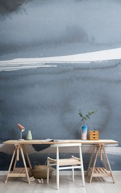 Fantastisch Create A Minimalist Scandinavian Style Home Office With Modern Office  Wallpaper Murals And Elevate A Nordic