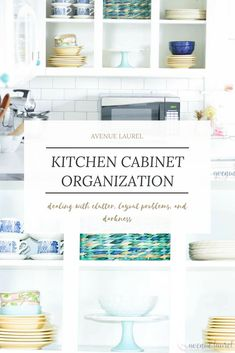 My lack of kitchen cabinet organization was killing me!  There was so much dead space, the layout was inefficient, and the corners were practically unusable.  Not a good thing in a smaller kitchen with no pantry! I needed to figure out a better layout, deal with the clutter, and brighten up the space.  This kitchen cabinet organization DIY is all about the process of nailing your kitchen cabinet organization, from a self-professed imperfect organizer.