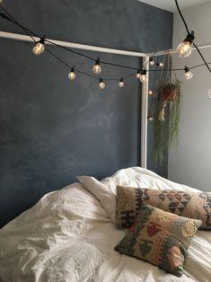 "Cozy bedroom by Charlotte & Fredrik from the Danish tv-program ""Nybyggerne"" – Toptrendpin Romantic Bedroom Decor, Stylish Bedroom, Gray Bedroom, Bedroom Sets, Home Decor Bedroom, Design Bedroom, Master Bedroom, Contemporary Bedroom, Modern Bedroom"