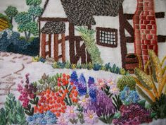 This was a very enjoyable embroidery to do, it was done from a pattern provided by Cheryl {Chez60} on Flickr.  She has a wonderful collec...