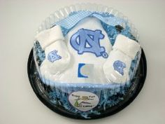 UNC baby piece of cake set for baby shower... instead of diaper cake