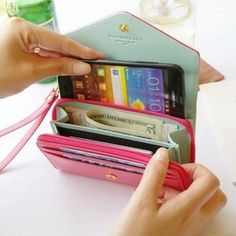 Pink Phone Bag Purse Change Purse Wallet With