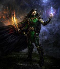 MZLowe verified link on 5/26/2016 Source: TARGETEDeviantArt.com Artist: JP Targete Artist's Title: Aradune the War Wizard