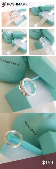 Classic Tiffany & Co Ring This a classic Tiffany ring, heavy and sturdy in excellent condition. Well taken care of, comes with its original pouch and gift box. Minor signs of wear due to use. Will make a great addition to your collection. Size 6 1/2, guaranteed authentic. Tiffany & Co. Jewelry Rings