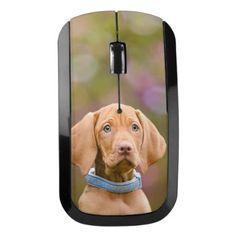 #photo - #Cute puppyeyed Hungarian Vizsla Dog Puppy Photo - Wireless Mouse
