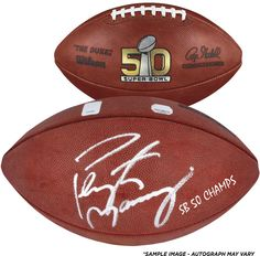 "Peyton Manning Denver Broncos Autographed Super Bowl 50 Pro Football with ""SB Champs"" Inscription"