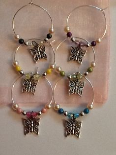 Wine Glass Charm set of 6 - The Supermums Craft Fair