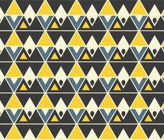trideco fabric by mooberri on Spoonflower - custom fabric