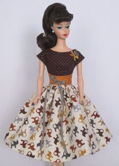 Happy Cat- Vintage Barbie Doll Dress Reproduction Barbie Clothes on eBay http://www.ebay.com/usr/fanfare1901?_trksid=p2047675.l2559