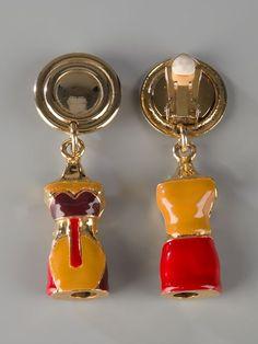 Joseff Hollywood cobra snake clip on earrings