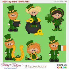 Lil Pat's Leprechauns Layered Element Templates  cudigitals.com clipart template cu commercial scrap scrapbook digital graphics #cu #scrapbooking #photoshop #digiscrap