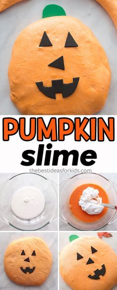 Fluffy Pumpkin Slime Recipe - such a fun Halloween slime recipe for kids! #slime #slimerecipe #halloween #halloweencraft #kidscraft #kidsactivities