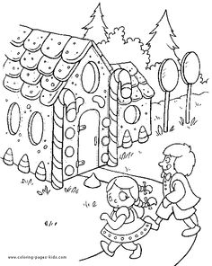 Hansel and Gretel Coloring Pages | HoLiDaYs | Pinterest | Adult ...
