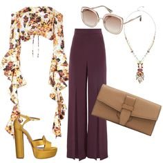 Love everything but the top, pretty pattern just not the style of it. Style Outfits, Dressy Outfits, Mode Outfits, Spring Outfits, Fashion Week, Look Fashion, Womens Fashion, Fashion Trends, Mode Chic