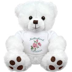 Get your girlfriend this adorable and cuddly teddy bear for Valentines Day or Sweetest Day. This naughty and funny bear is the perfect gift for your crush! Customize it with a funny message at the bottom. White Teddy Bear, Cute Teddy Bears, Customized Girl, Cute Stuffed Animals, Book Girl, Valentine Gifts, Cuddling, Plush, Retro