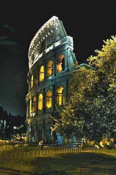 Colosseum at Night, Rome Lazio