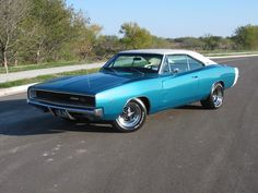 Anyone else smitten with the color of this '68 Charger?!  Just beautiful!