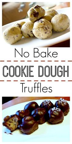 Looking for a quick and easy treat? These No Bake Cookie Dough Truffles will do the trick!