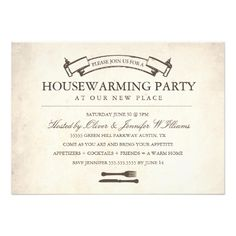 Cute Housewarming Party Invite  Invites Housewarming Parties