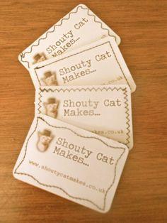 Homemade business cards