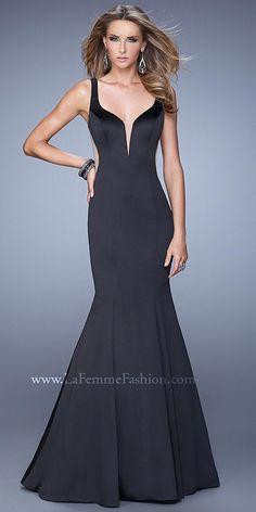 Illusion Scoop Back Prom Dresses By La Femme