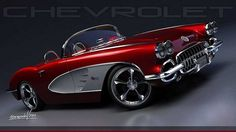 Gorgeous '59 Corvette Roadster Resto-Mod. Awesome American Classic!: