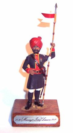 Vintage Metal Toy Soldier Figure British Indian Army 14th Murray's Jats Lancers | eBay $20.00