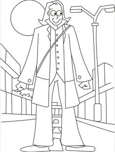 A Giant On Street Walk Coloring Pages