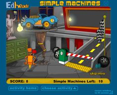 Simple Kitchen Machines the robot's kitchen - find 10 simple machines. | games for ages 6