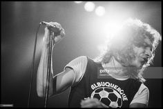 Lou Gramm of Foreigner performing at Wembley, London on 9 May 1982.