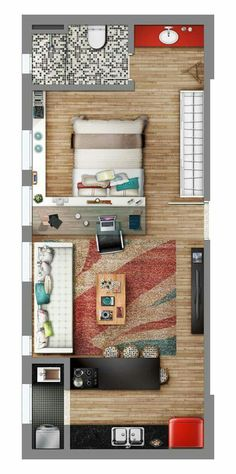 Apartamento Moderno Com Quarto Smart Home Pinterest Tiny