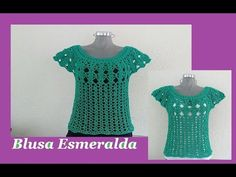 Blusa Crochet Mariposa - YouTube