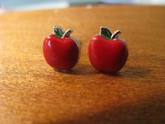 How About Them Apples Earrings by bluesparrowtrinkets on Etsy