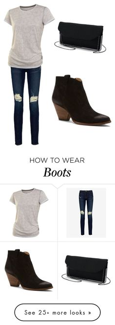 """Love the boots"" by sydvogt on Polyvore featuring Frame Denim and Frye"