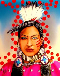 Walking Red by Riel Benn(award winning artist from the Birdtail Sioux First Nation,Southwestern Manitoba)