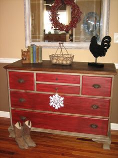 I can't wait to try this paint technique on an old worn out dresser that I have.