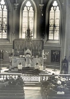 Another Priests View of the Latin Mass   Monasterevin Sanctuary 1953