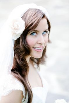 Wedding Hair Ideas for Long Hair The waves on this one are really pretty :]